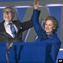 "Meryl Streep as British Prime Minister Margaret Thatcher in ""The Iron Lady."""