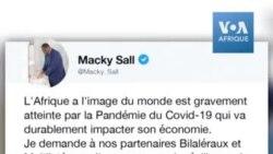Macky Sall demande l'annulation de la dette de l'Afrique pour atténuer l'impact du COVID-19
