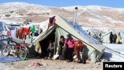 敘利亞一個難民營(資料照片)
