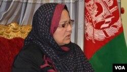 سیما جوینده می گوید می خواهد برای توسعه حقوق زنان در غرب افغانستان کار کند