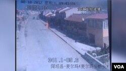 藏人自焚畫面