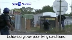 VOA60 Africa - South Africa: Squatter camp residents protest for a third day