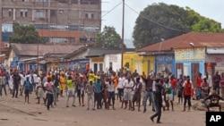 Une marche à Kinshasa