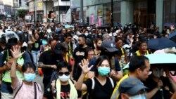 """香港實施""""禁蒙面法""""首日 網民發起全民蒙面遊行抗爭"""