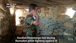 Fasting Peshmerga Fighters Say IS Does Not Represent Islam