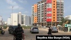 Une rue de Dakar, la capitale du Sénégal, le 15 juillet 2021.