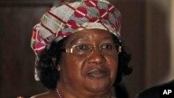 FILE - Malawi's president, Joyce Banda.