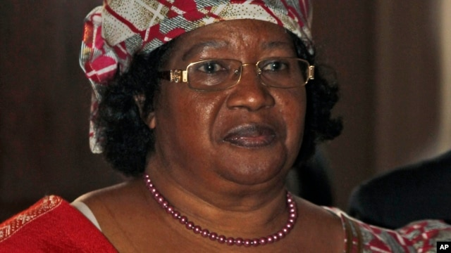 May 2014 re-election for Malawi's president, Joyce Banda, shown on June 6, 2012, may be influenced by speed and results of government handling of Cashgate probe.