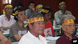 台灣農民抗議政府強制徵收農地