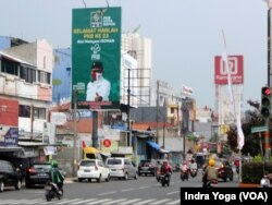 Foto Abdul Muhaimin Iskandar di Jalan Margonda Raya, Depok. (Foto: VOA/Indra Yoga)