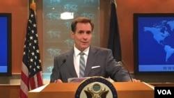 美国国务院发言人柯比(2015年6月资料照片 美国之音张蓉湘)