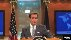 Пресс-секретарь Госдепартамента США Джон Кирби