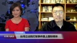 VOA连线:台湾立法院打架事件登上国际媒体