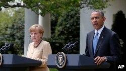 Barack Obama et Angela Merkel vendredi à la Maison Blanche