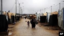 在約旦難民營的敘利亞難民