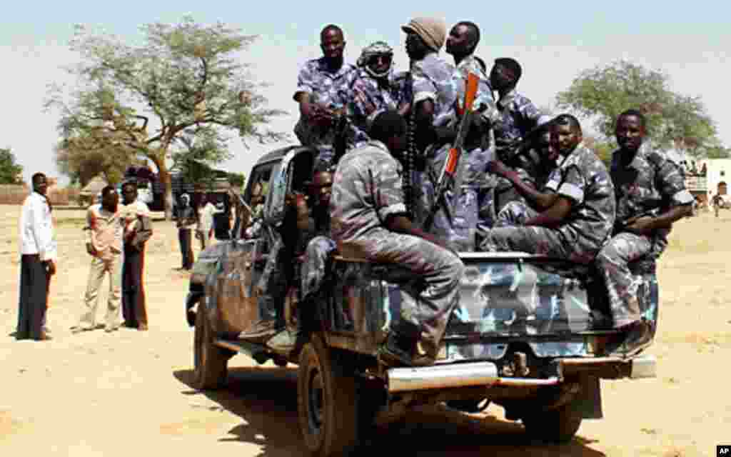 Government soldiers now provide protection for UN convoys in the region. Habila Canari