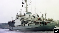 흑해 상의 러시아 해군 함정. (자료사진)