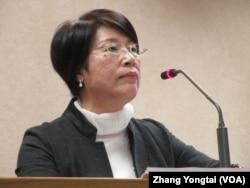 台湾执政党国民党立委陈碧涵(美国之音张永泰拍摄)