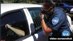 Pada umumnya pelatihan polisi berfokus pada taktik fisik. (Foto: video screenshot)
