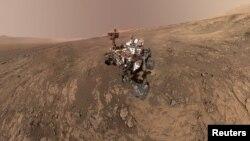 مریخ پر اتاری جانے والی سائنسی گاڑی کی ایک تصویر