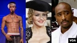 Top Ten Americano: Justin Bieber atropelou paparazzi; Cor da pele definiu relação de Tupac e Madonna