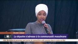 La députée Ilhan Omar s'adresse à la communauté musulmane