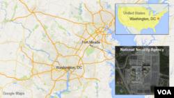 Milliy xavfsizlik agentligi poytaxt Vashingtonda 40 kilometr narida, Merilend shtatida joylashgan.