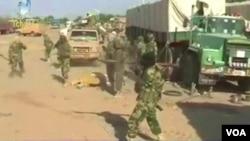 Les troupes tchadiennes qui mènent une offensive contre Boko Haram le 2 février 2015.