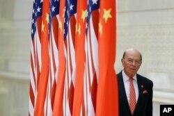 美國商務部長羅斯抵達北京人大會堂參加國宴。(2017年11月9日)
