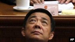 Bo Xilai, en la ceremonia del cierre de sesión del congreso chino.