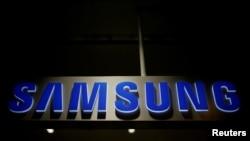 Bango linaloonyesha nembo ya kampuni ya Samsung