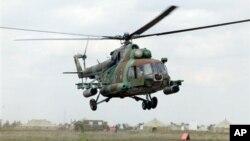 북한이 옛 소련으로부터 도입한 것과 같은 기종인 MI-8 헬기. (자료사진)