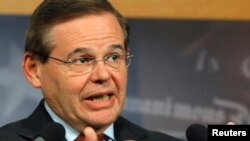 FILE - Senator Robert Menendez (D-NJ).
