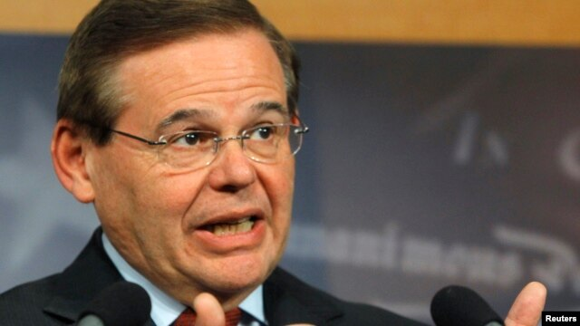FILE - Senator Robert Menendez (D-NJ).