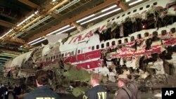 Una presunta explosión causó el accidente del vuelo 800 de la compañía TWA el 17 de julio de 1996 cuando se dirigía a París desde Nueva York.