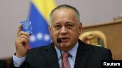 Ketua partai Sosialis yang berkuasa di Venezuela,Diosdado Cabello,di Caracas, Venezuela 8 Januari 2020. (Foto: dok).