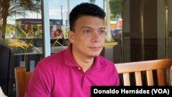 Marlon Fonseca, activista nicaragüenses liberado de prisión después de aprobarse una ley de amnistía.