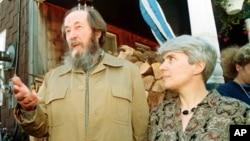 Александр и Наталья Солженицыны. Архивное фото.