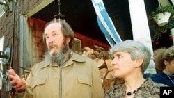 Александр и Наталья Солженицыны Вермонт, США 1991 год.
