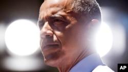 """El presidente Obama dijo que la prohibición temporal de vuelos de EE.UU. a Israel tomada por la FAA fue una """"acción prudente""""."""