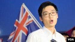香港民族黨召集人陳浩天 (美國之音湯惠芸拍攝)