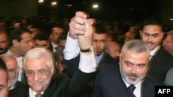 Պաղեստինցիների ղեկավար Մահմուդ Աբբաս և «Համաս»ի առաջնորդ Իսմայիլ Հանիե (արխիվային լուսանկար)