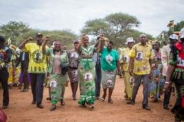Mrs. Grace Mugabe arrives in Maphisa, Matabeleland South province, with senior Zanu PF officials. (Photo: Taurai Shava)