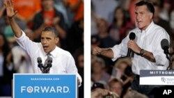 Presiden Obama dan Capres partai Republik, Mitt Romney memusatkan kampanye mereka di negara-negara bagian penentu hasil pemilu (foto: dok).