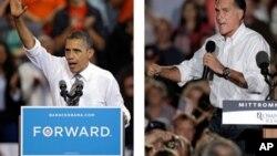 Tổng thống Barack Obama và ứng cử viên đảng Cộng hòa, Mitt Romney