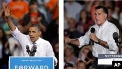 奧巴馬(左) 與羅姆尼(右)