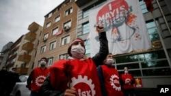 Učesnici protesta u Istanbulu