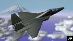 일본 방위성이 지난 2007년 차세대 스텔스 전투기를 자체 개발하기로 결정한 후 공개한 개념도 (자료사진)