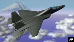 일본 방위성이 지난 2007년 차세대 스텔스 전투기를 자체 개발하기로 결정한 후 공개한 개념도. (자료사진)