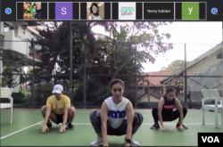 Kelas olahraga online Sana Studio (dok: Rendy Wicaksana)